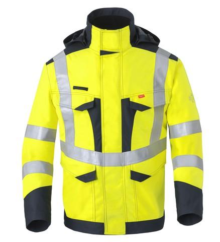 Multi Shield Wetterschutz Parka 50248, leuchtgelb/marine