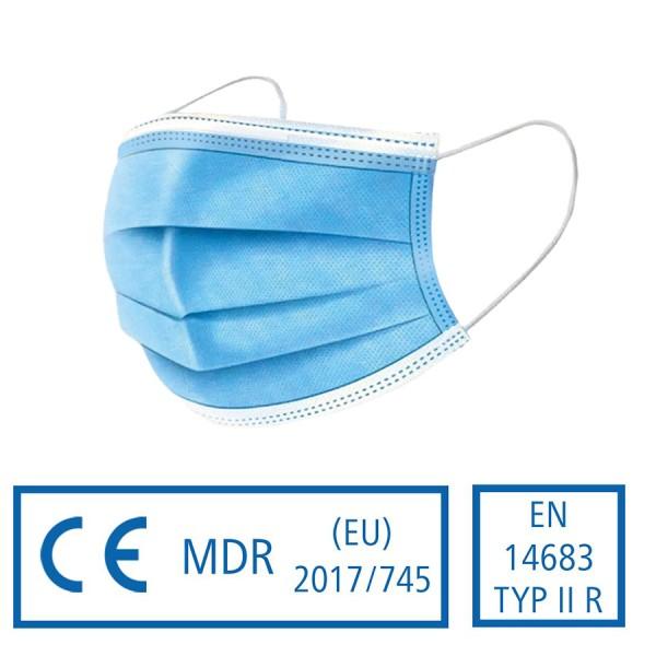Typ IIR medizinischer Mund- und Nasenschutz nach EN 14683