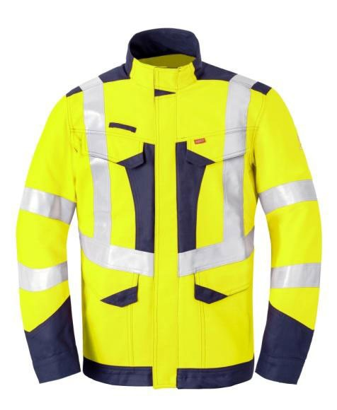 Multi Shield Langjacke 50247, warngelb/dunkelmarine