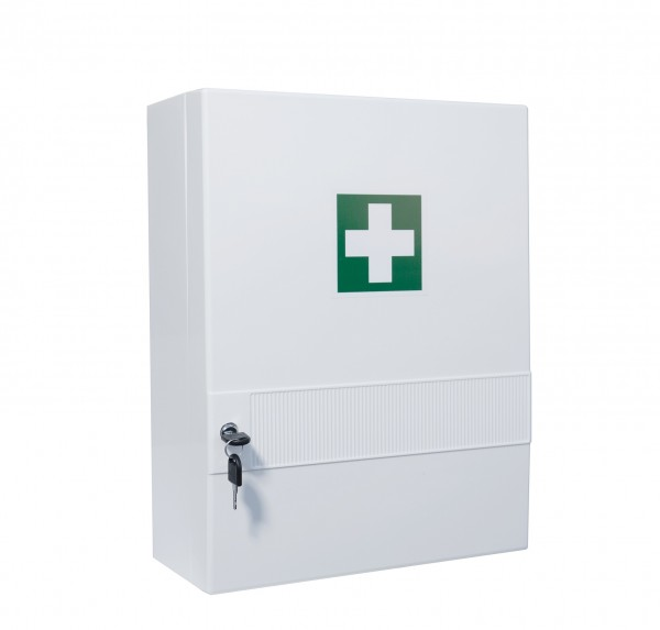 17.011 Kunststoff-Verbandschrank, K, weiß