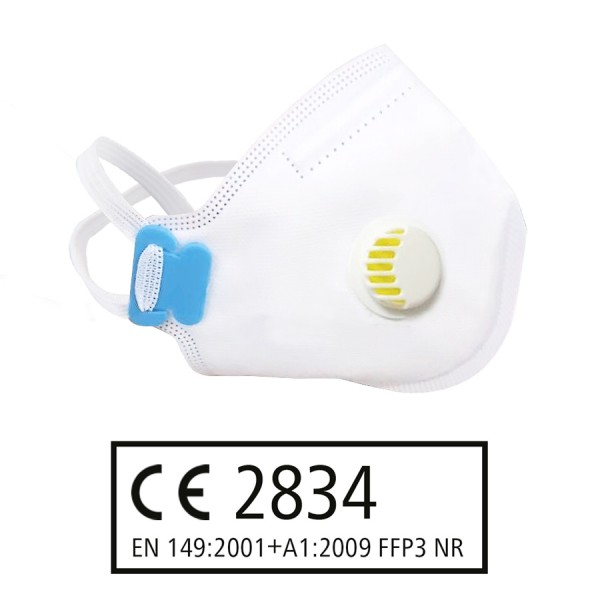 FFP3 NR Atemschutzmaske mit Ventil nach EN 149:2001 + A1:2009