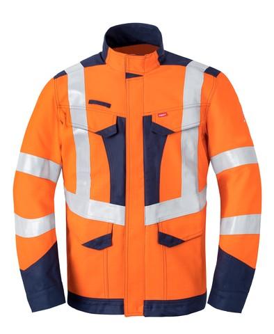 Multi Shield Langjacke 50247, orange/marine