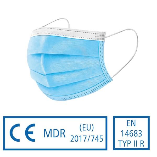 Typ II R medizinische Einwegschutzmaske - Mund- und Nasenschutzmaske nach DIN EN 14683