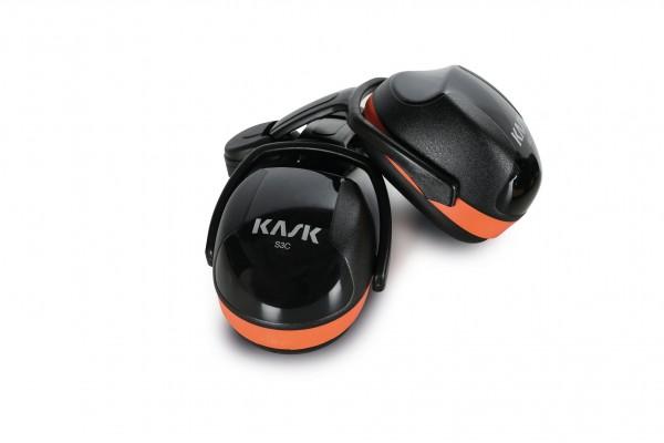 Kapselgehörschutz SC3, schwarz/orange, ohne Adapter für Zenith-Helme
