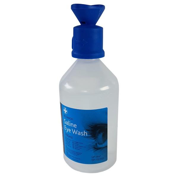 18.030 Augenspülflasche, NaCl. 0,9%, 500 ml