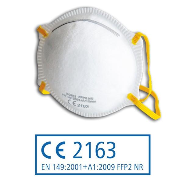 FFP2 NR Atemschutzmaske nach EN 149:2001 + A1:2009, vorgewölbt